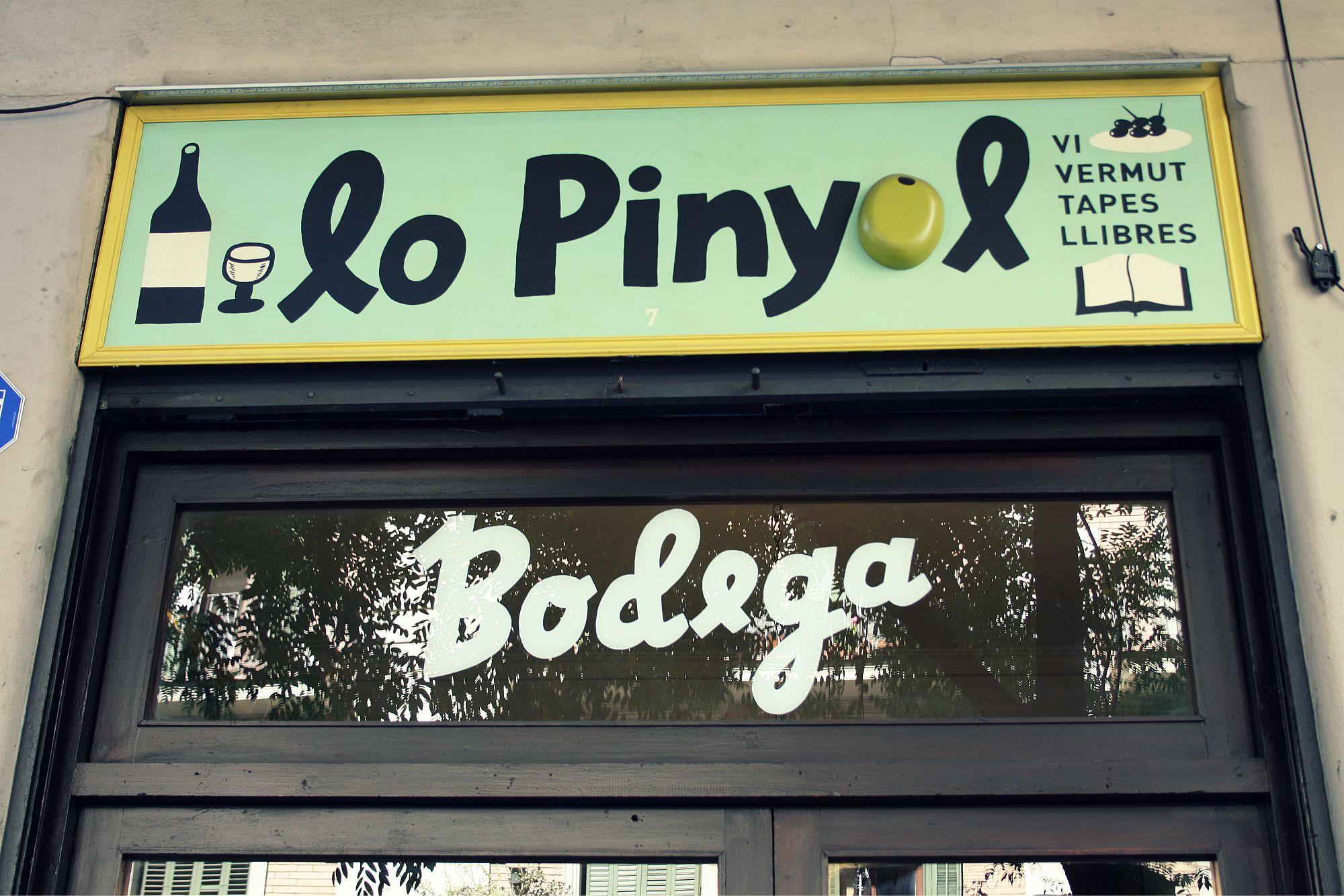 Cartel de Bodega Lo Piñol