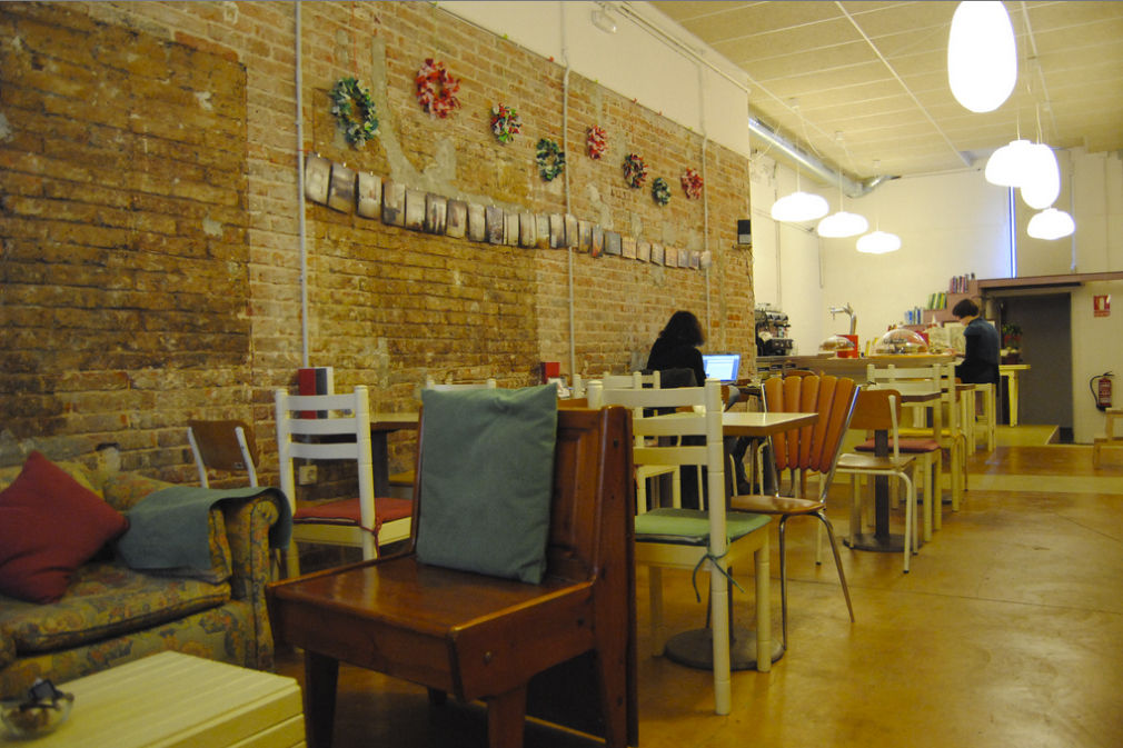 Interior de Babelia Café