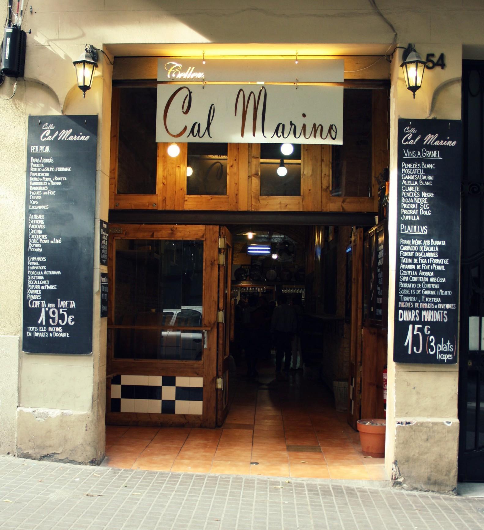 Entrada a Celler Cal Marino