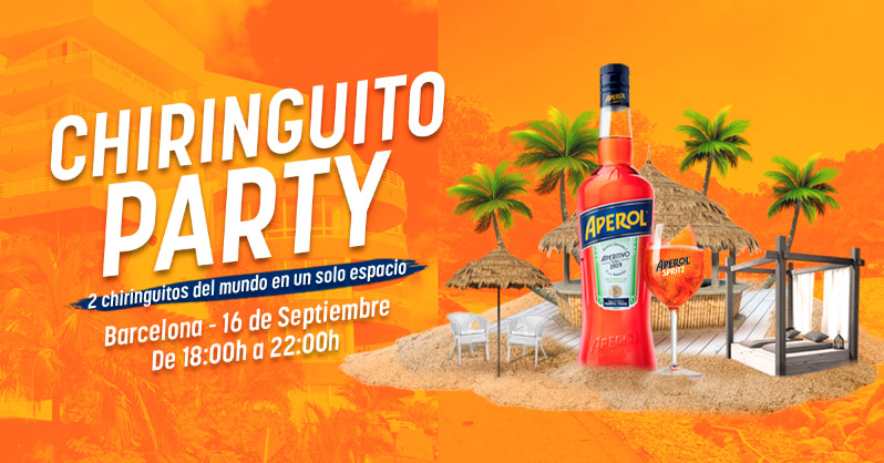 chiringuito party aperol spritz